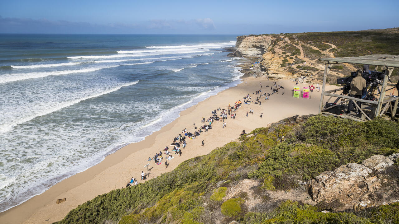 line up during day 4 of EDP Billabong Pro Ericeira 2019